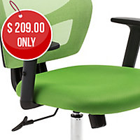 ACE METRO MESH SEAT AND BACK CHAIR GREEN - EACH