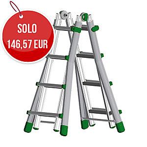Scala professionale Eurobriko Facal in alluminio 4+4 gradini
