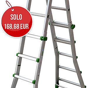 Scala professionale Eurobriko Facal in alluminio 5+5 gradini