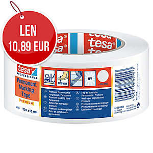 Označovacia lepiaca páska tesaflex® 04169, 50 mm x 33 m, biela