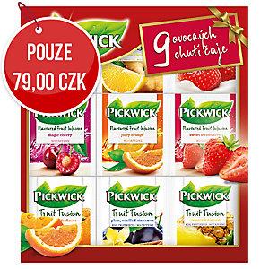 Kolekce čajů Pickwick Fruit Infusion – 9 bohatých chutí čaje, 36 sáčků