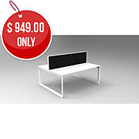 RAPID INFINITY 2 PERSON WORKSTATION DOUBLE SIDED WITH SCREENS 1500 X 700MM-EACH