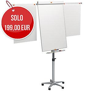 Lavagna a fogli mobili magnetica Nobo Piranha 100 x 70 cm