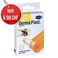 DermaPlast Textil Wundschnellverband, 8x10 cm, hautfarbig, Packung à 10 Stück
