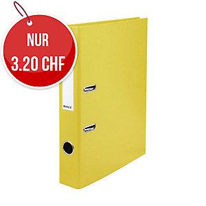 Bundesordner Biella 0103414, 4 cm, gelb