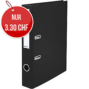 Bundesordner Biella 0103414, 4 cm, schwarz