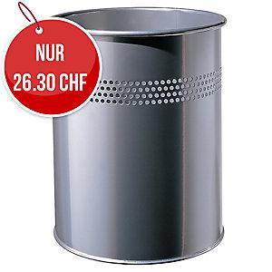 Papierkorb Twinco 14,7 Liter, Metall silber