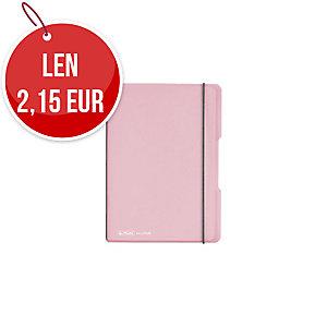 Zošit Herlitz my.book Flex transparentný rose - A5/40 listov, štvorček, pp
