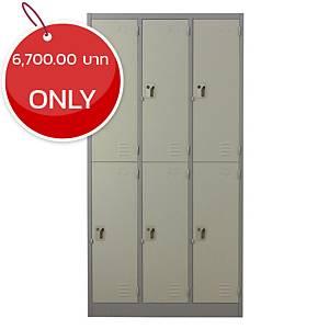 METALPRO MET-6106N STEEL LOCKER 6 DOORS GREY