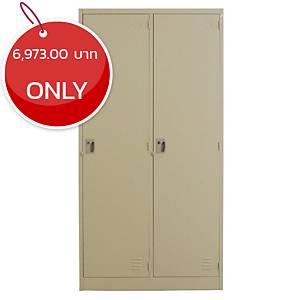 METAL PRO MET-6102N Steel Locker 2 Doors Cream