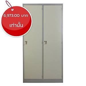 METAL PRO ตู้ล็อกเกอร์ MET-6102N 2 ประตู สีเทาสลับ