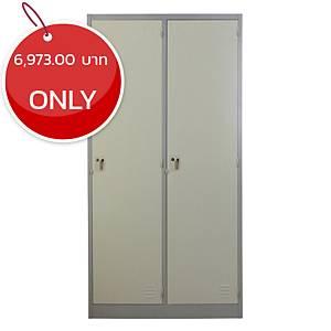 METAL PRO MET-6102N Steel Locker 2 Doors Grey