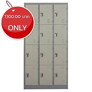 METALPRO MET-6112N STEEL LOCKER 12 DOORS GREY