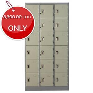 METALPRO MET-6118N STEEL LOCKER 18 DOORS GREY