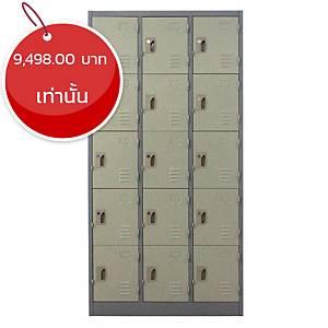 METAL PRO ตู้ล็อกเกอร์ MET-6115N 15 ประตู สีเทาสลับ
