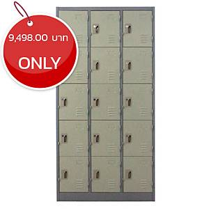 METAL PRO MET-6115N Steel Locker 15 Doors Grey