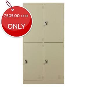 METAL PRO MET-6104N Steel Locker 4 Doors Cream