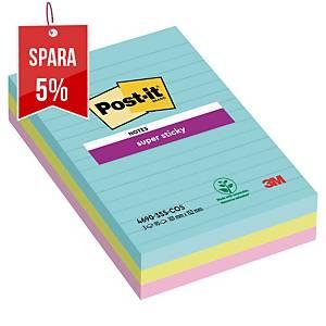 Notisblock Post-it Sticky Notes, 101 x 152 mm, Miami Color, förp. med 3 block