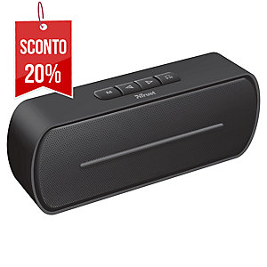 ALTOPARLANTE MINI WIRELESS BLUETOOTH SPEAKER FERO TRUST NERO