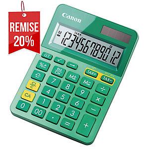 Calculatrice Canon LS-123K 12 chiffres vert menthe