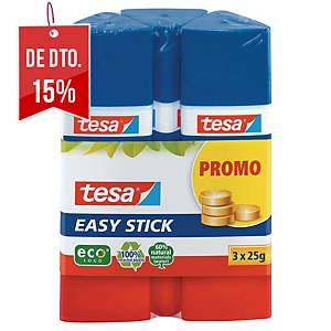 Pack 3 colas stick Tesa Easy - 25 g