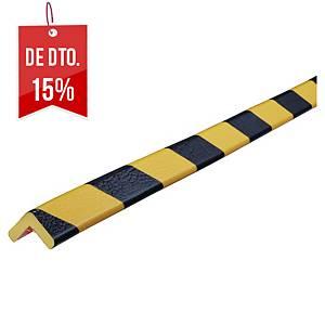 Protetor de cantos tipo E Knuffi - 1 m x 26 mm x 19 mm - preto/amarelo
