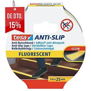 Fita antiderrapante Tesa 55580 - 5 m x 25 mm - fluorescente