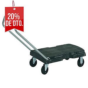 Carrito plegable RUBBERMAID con plataforma movil Triple™ soporta 181kg