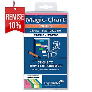 Notes Magic Chart - électrostatiques - 10 x 20 cm - assortis - bloc de 100