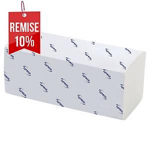 Essuie-mains Lyreco pour H3 - 2 plis V - blanc - 20 paquets x 200 feuilles