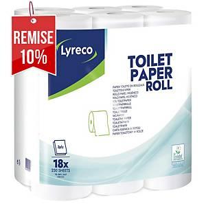 Papier toilette Lyreco - 3 plis - 18 rouleaux