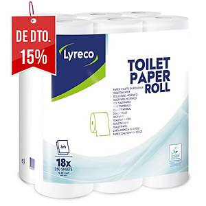 Pack de 18 rolos de papel higiénico Lyreco - 3 folhas - 30 m