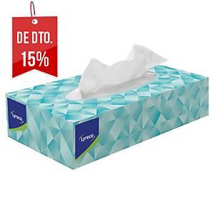 Caixa de 100 toalhetes faciais Lyreco - 221 x 11,5 cm - Folha dupla
