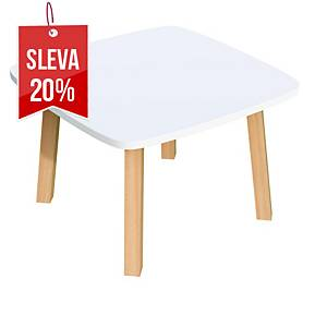 Recepční stolek Paperflow Woody, 60 x 60 cm, bílý
