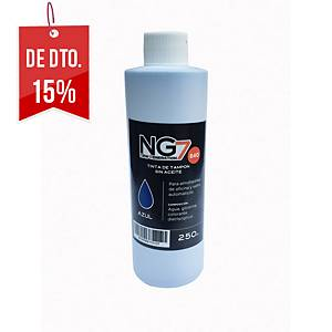 Frasco de tinta para almofada de carimbo - 250 ml - azul