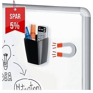 Penneholder til whiteboard Cep Gloss, magnetisk, sort