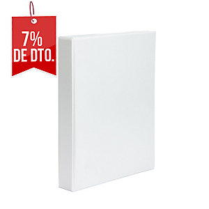 CARPETA PERSONALIZABLES 4 ANILLAS 25MM FOLIO BLANCO