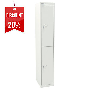 BISLEY OFFICE LOCKER 2 COMPARTMENTS WH