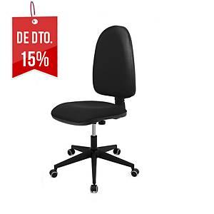Cadeira com mecanismo de contacto permanente Lyreco IM10E - preto