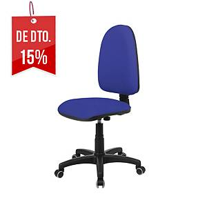 Cadeira com mecanismo de contacto permanente Lyreco IM10E - azul