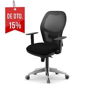 Cadeira com mecanismo sincronizado Lyreco PS10 - preto
