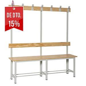 Bancada de vestuário com cabide montado - 1500 x1800 x320 mm - madeira