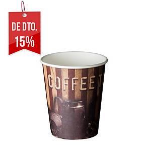 Pack de 50 copos Coffee Time - cartão - 240 ml
