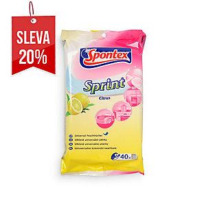 Spontex Sprint Citrus vlhčené ubrousky, 40 ks