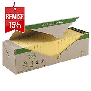 Pack avantage Notes Post-it recyclées jaunes