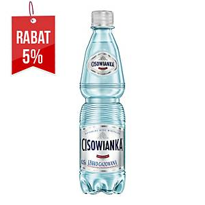 Woda mineralna CISOWIANKA lekko gazowana, zgrzewka 12 butelek x 0,5 l