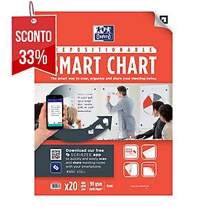 Blocco lavagne fogli mobili Oxford Smart Chart riposizionabili 30 fogli - conf.3