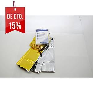 MANTA ISOTÉRMICA BIMEDICA OURO/PRATA