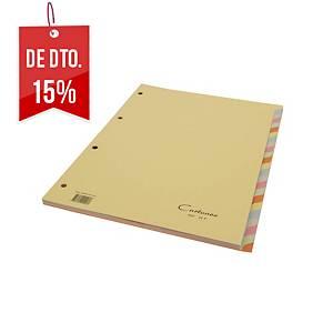 Conjunto 24 separadores Cartonex - A4 - cartão - sortido