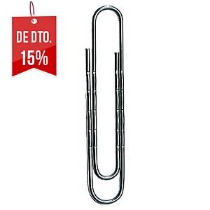 Caixa 100 clipes redondos Lyreco - 50mm
